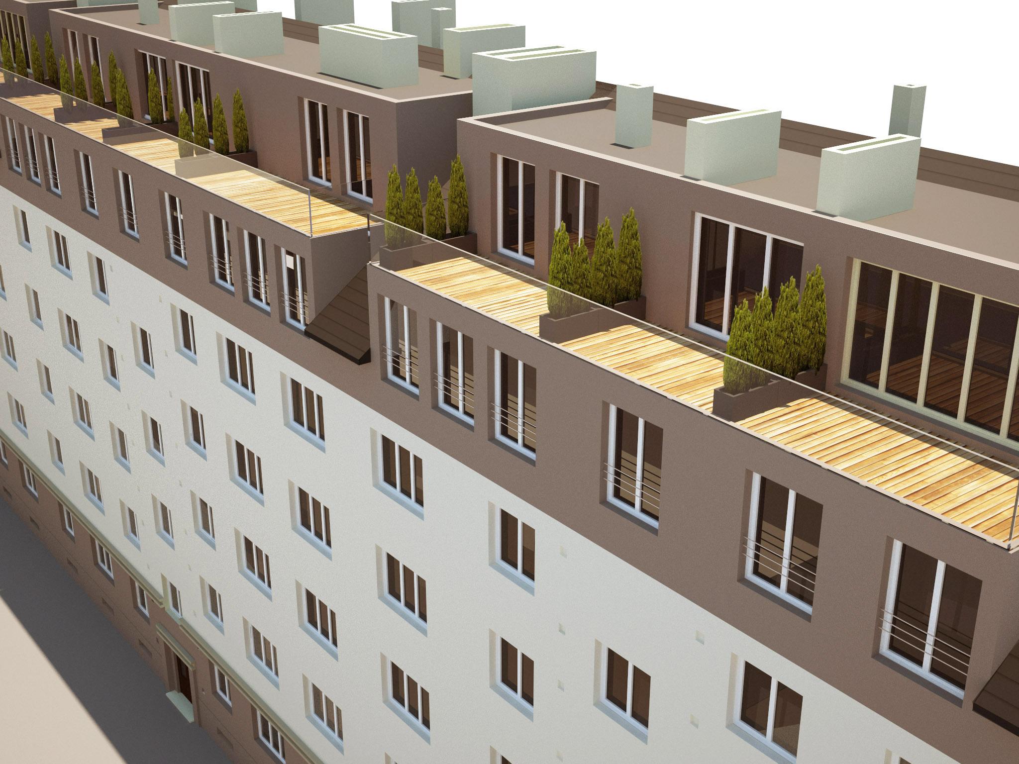 Bytový dom - prestavba podkrovia